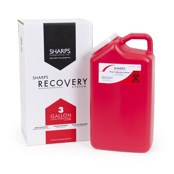 3 Gallon Sharps Recovery System return by USPS