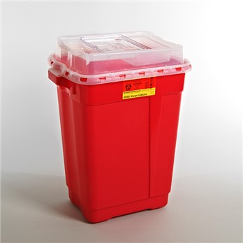 BD™ 19 Gallon Red Multi-purpose Sharps Container 2-Piece Sliding Lid