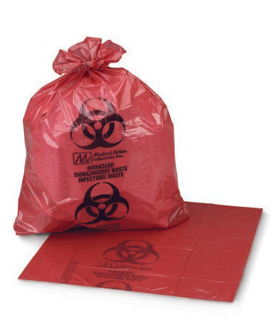 Infectious Waste Bag Red 40 X 46 Inch 40-45 gallon