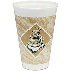 12X16G Cafe G™ Printed Insulated Foam Cup - 12 oz Squat