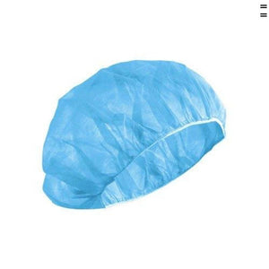 "DISPOSABLE BOUFFANT BLUE CAPS 24"" 500 PER CASE"