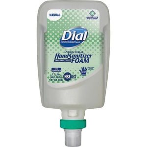 Dial FIT Manual Refill Hand Sanitizer Foam - 40.6 fl oz (1200 mL)-  Dye-free - 3 / Carton