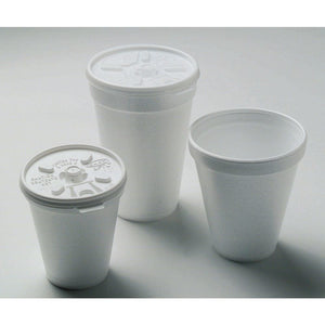 10 oz Foam Disposable Hot Cup, White, 1000 PK