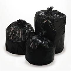 CAN LINERS 33X39-  32 Gallons Bulk Trash Can Liners 1.5Mil-Black