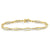 Yellow Gold Diamond Bezel and Link Tennis Bracelet