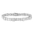 Princess and Baguette-Cut Diamond Art Deco Bracelet