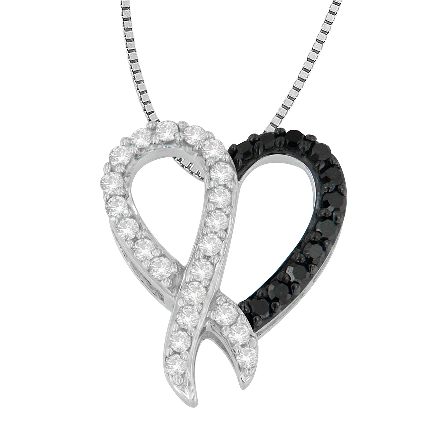 Diamond Heart Necklace by Liz Santos
