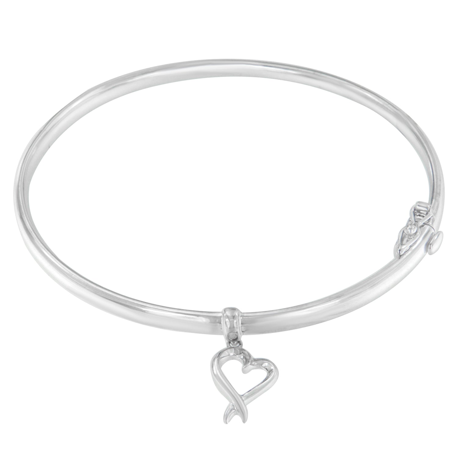 Sterling Silver Heart Fashion Bangle