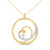 Liz Santos Diamond and Gold Pendant