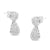 18K White Gold Round-Cut Diamond Earrings