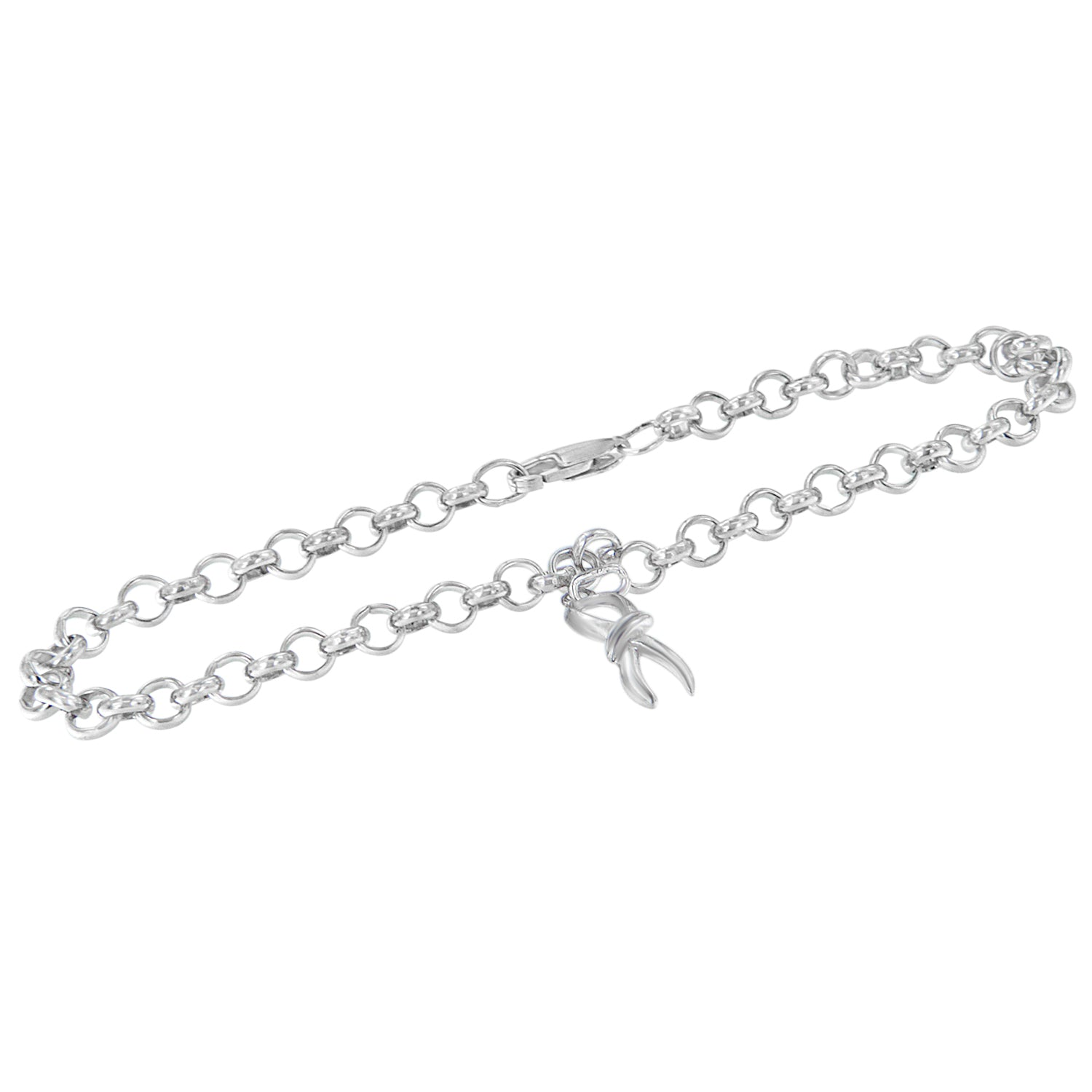 Sterling Silver Charm Bracelet with Infinity Charm