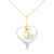 10k White Gold Heart Diamond Accent Pendant Necklace
