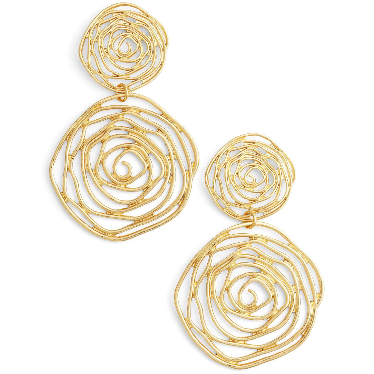 Floral Swirl Dangle Earrings