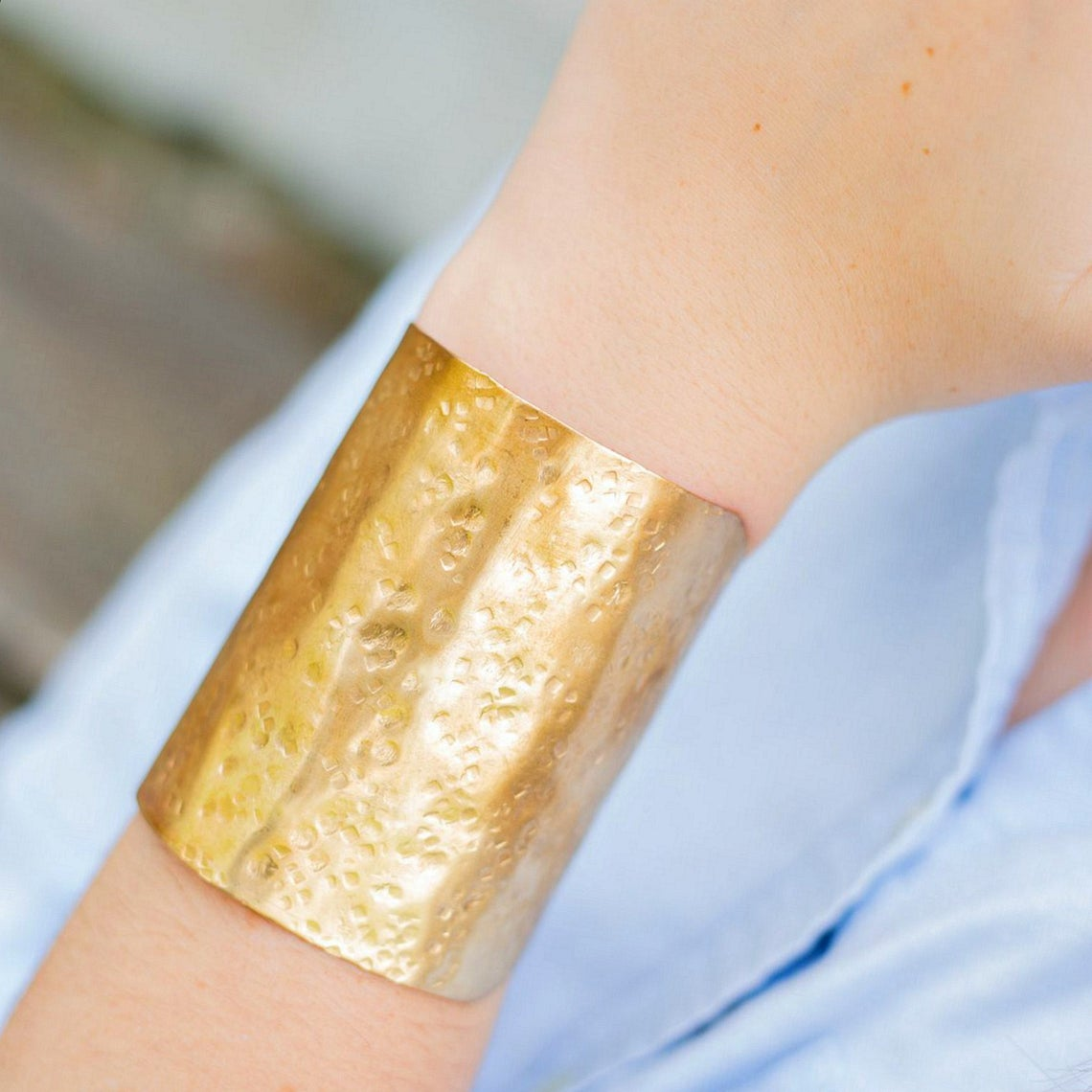 Tall Brass Cuff Bracelet