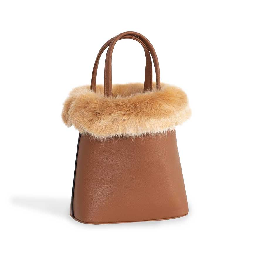 Plush Fur Chloe Bag - Brown