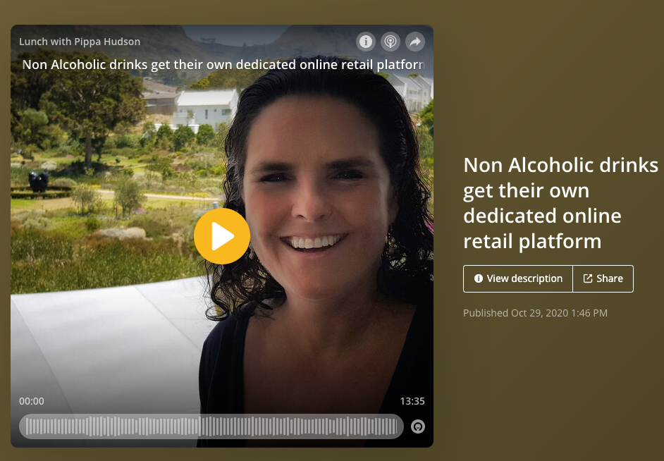 Pippa Hudson of Cape Talk radio chats to Drink Nil founders