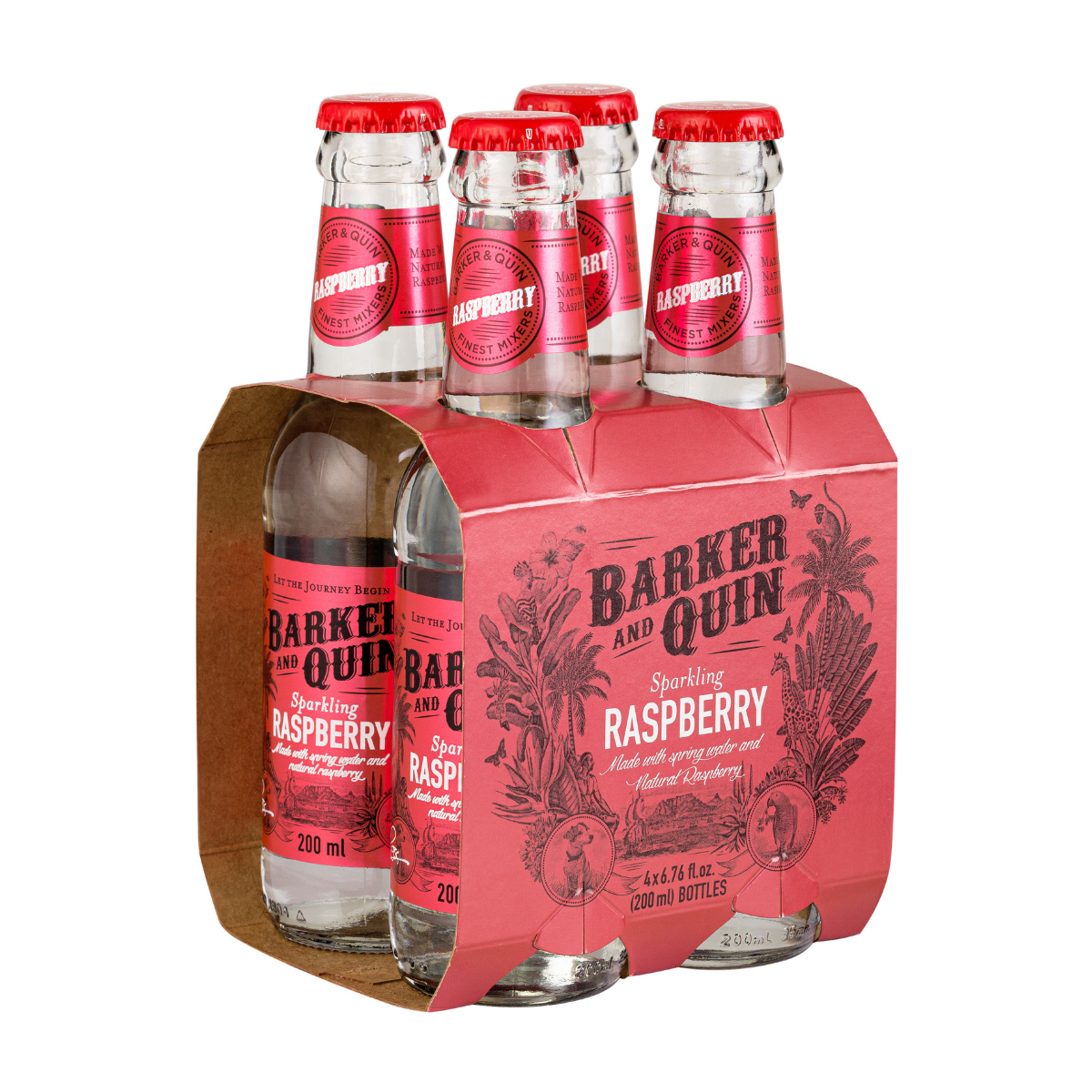 Barker and Quin Raspberry Fizz (4 x 200ml)