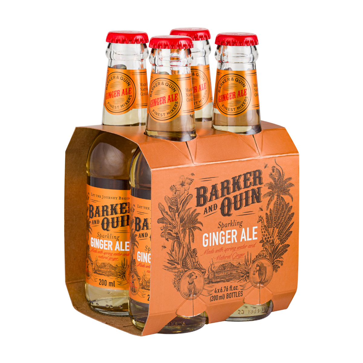 Barker and Quin Ginger Ale (4 x 200ml)