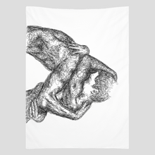 "Load image into Gallery viewer, ""Embrace"" Wall Tapestry"