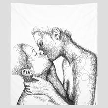 "Load image into Gallery viewer, ""Kiss"" Wall Tapestry"