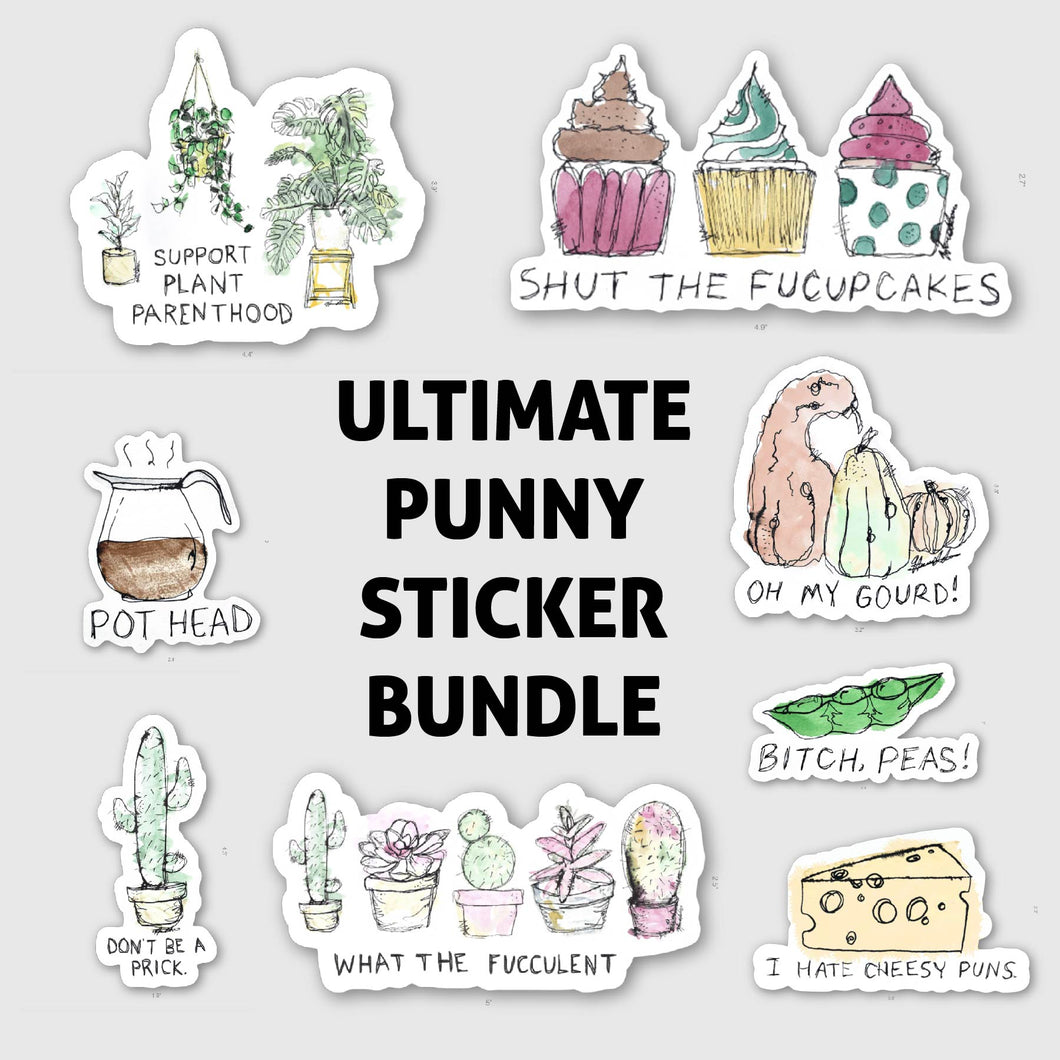 Punny Sticker Bundle