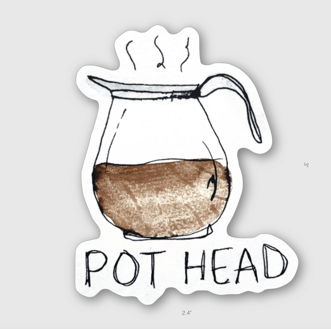 Pot Head Sticker