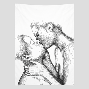 """Kiss"" Wall Tapestry"