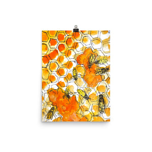 Beehive Bliss Print