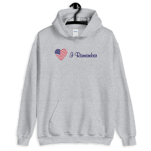 "American Flag Heart Hoodie ""I Remember"""