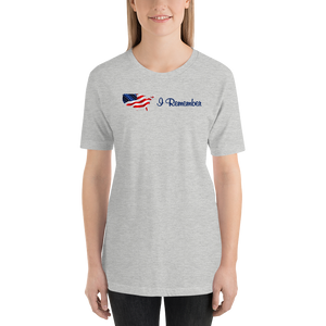"Flowing American Flag ""I Remember"" T-Shirt"
