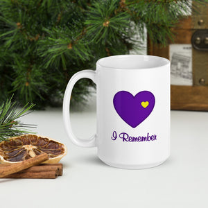 "Heart of Gold  ""I Remember"" Mug 11 and 15 ounces"