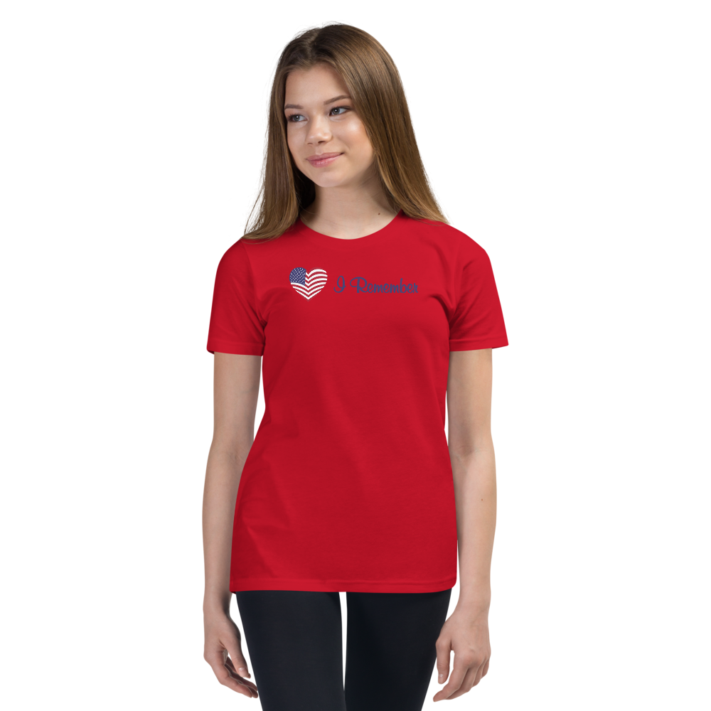 American Flag Heart Youth T-Shirt
