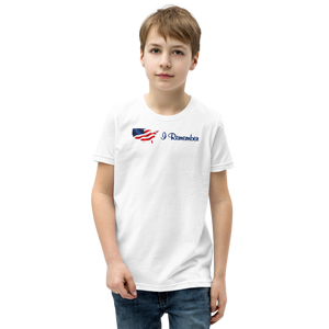 "Flowing American Flag ""I Remember"" Youth T-Shirt"