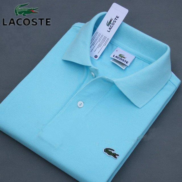 Mens Polo Shirt 2020 New Summer Alpine Star Short Sleeve Turn-over Collar Slim Tops Casual Breathable Blue Color Business Shirt