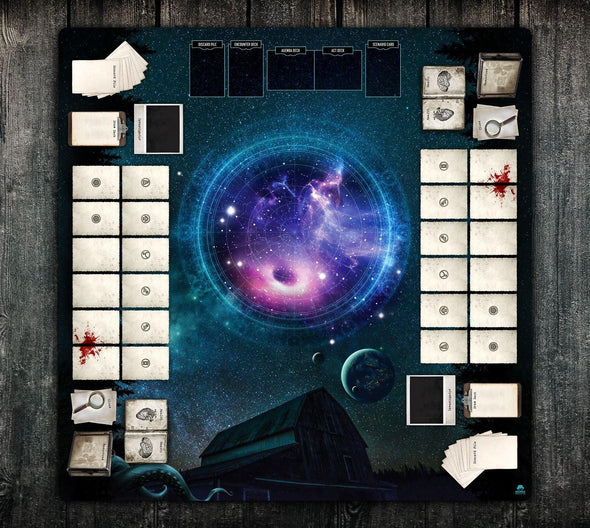 36x36 Double-Sided Playmat - Dunwich Horror 2 Player & Solo 2-Handed - Momo Monster Co
