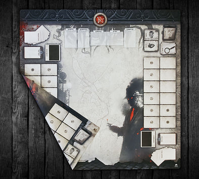 36x36 Double-Sided Playmat - Streets of Arkham 2 Player & Solo 2-Handed