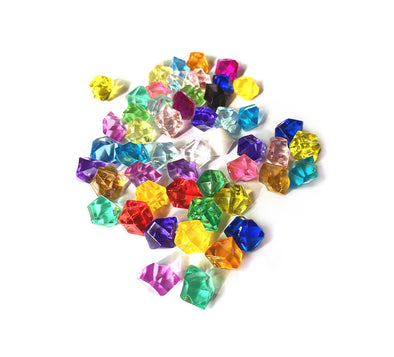 Acrylic Crystals Game Pieces - 20 Colors