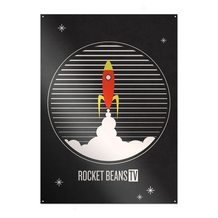 Rocket Beans TV - Rakete - Metallschild