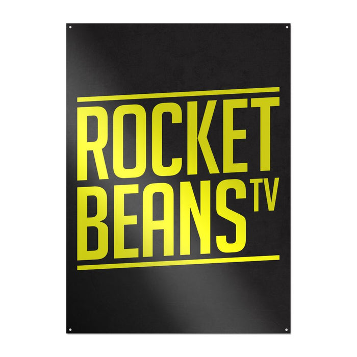 Rocket Beans TV - Slant Typo - Metallschild