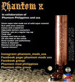 BLACK Phantom X Mechanical Tube Mod ECC-VPX EDITION by Phantom Mods - 2VAPEDX