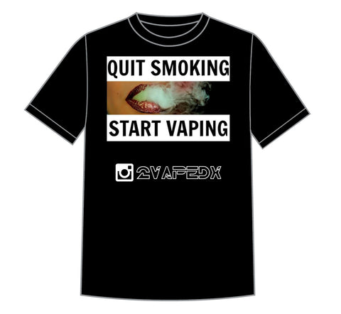QUIT SMOKING, START VAPING COLORED PHOTO T-SHIRT - 2VAPEDX