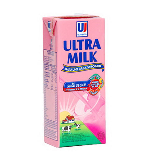 Bendera Susu Uht Rasa Strawberi 225 Ml