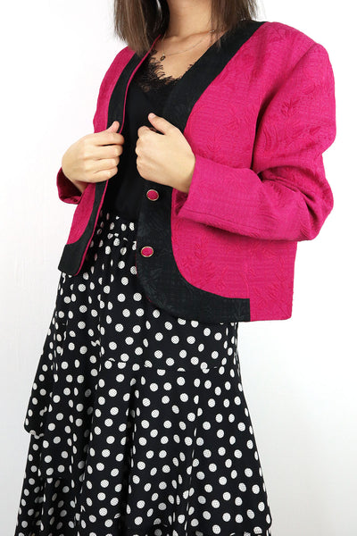 pink Blazer and skirt with dots