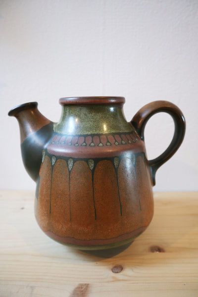 Vintage 70´s Stoneware Jug in Beautiful Colors