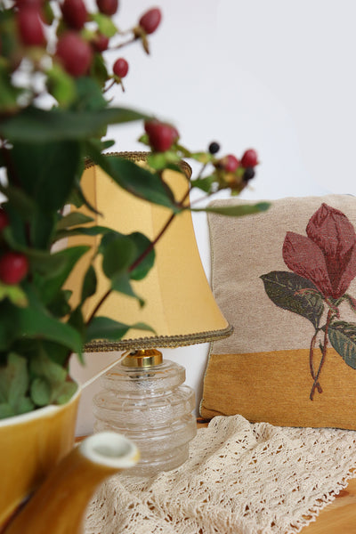 Vintage Pillow With Flower