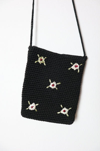 Vintage Small Bag With Flower Embroidery