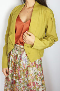 Vintage Blouse In Blazer Optic