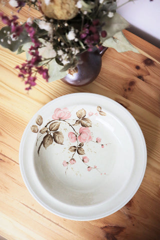Set Vintage Plates With Roses Winterling