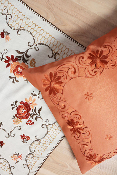 Vintage Tablecloth Floral Embroidery