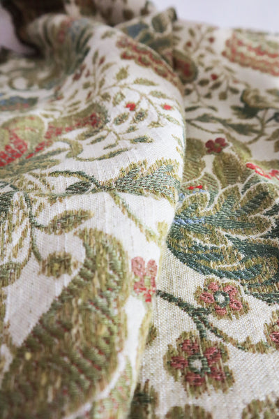 Vintage Jaquard Tablecloth With Golden Border